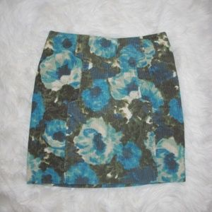 Anthropologie POSTMARK Calabria Floral Mini Skirt